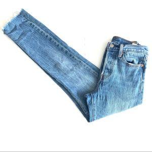 Levi's 501 White Oak High Rise Skinny Jeans